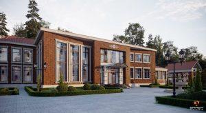 Строительство загородных домов из кирпича и керамических блоков